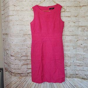 Ellen Tracy Pink Sleeveless Career Sheath Dress
